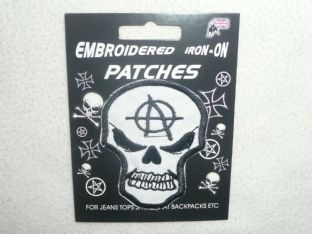 Anarchy Skull - Sew On Patch